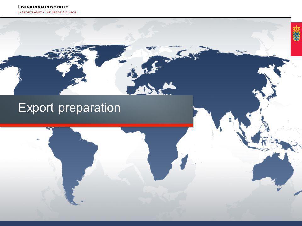 Export preparation