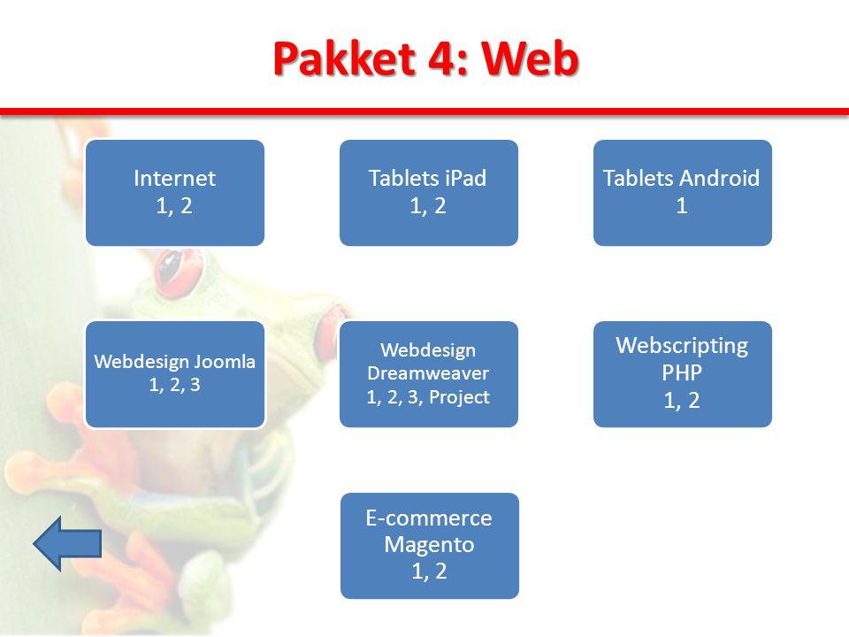 Pakket 5: Technisch Besturings- systemen 1, 2, 3 Netwerken 1, 2, 3 Autodesk Inventor 1, 2 Visual Basic 1, 2 Autocad 1, 2, 3 PC's herstellen en bouwen