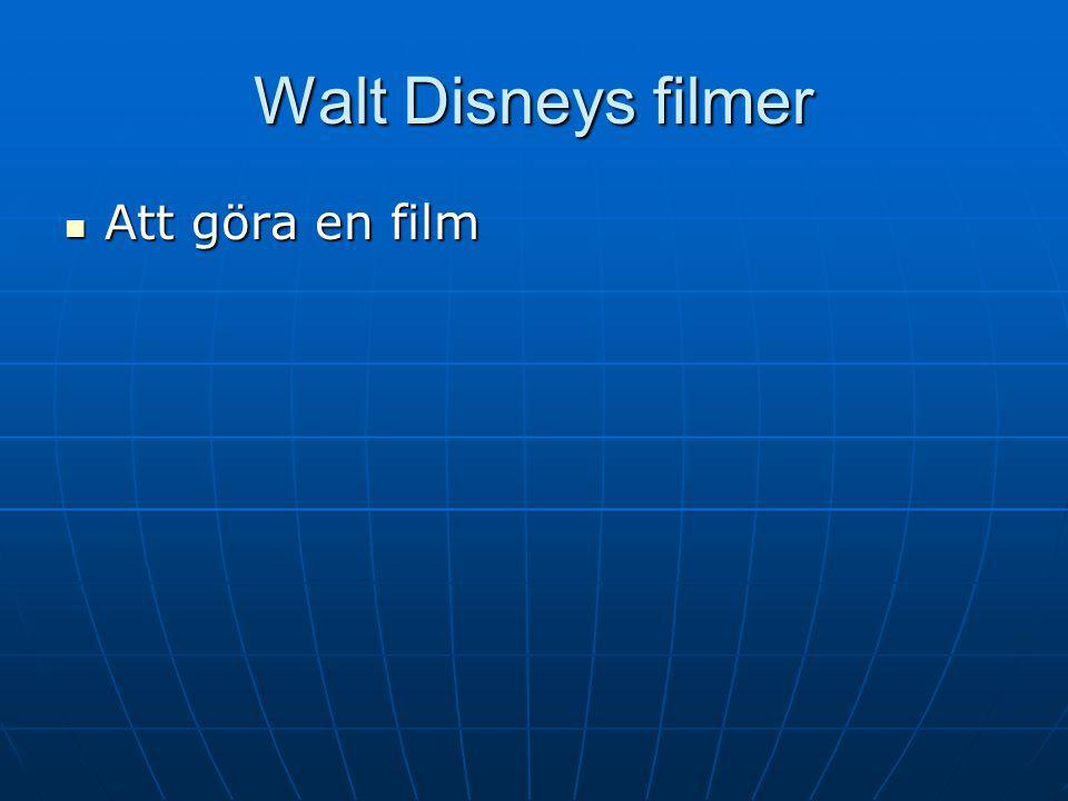 Walt Disneys filmer AAAAtt göra en film