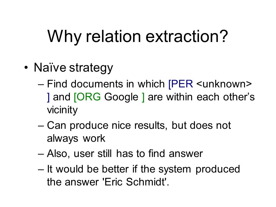 Why relation extraction.