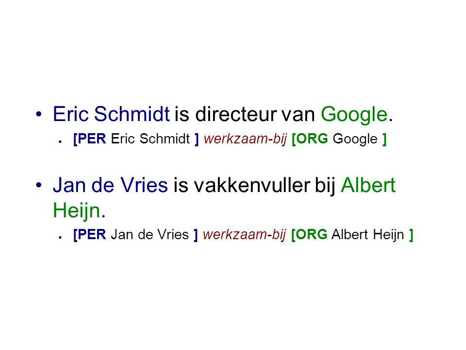 •Eric Schmidt is directeur van Google.