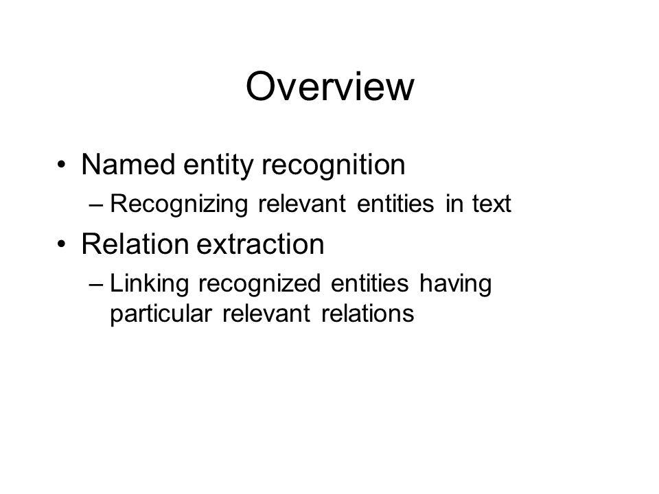 Relation extraction Eric Schmidt is directeur van Google.
