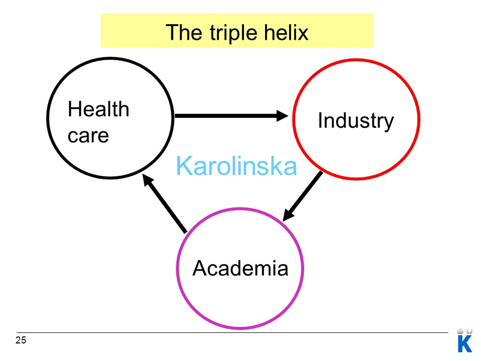 25 Health care Industry Academia Karolinska The triple helix