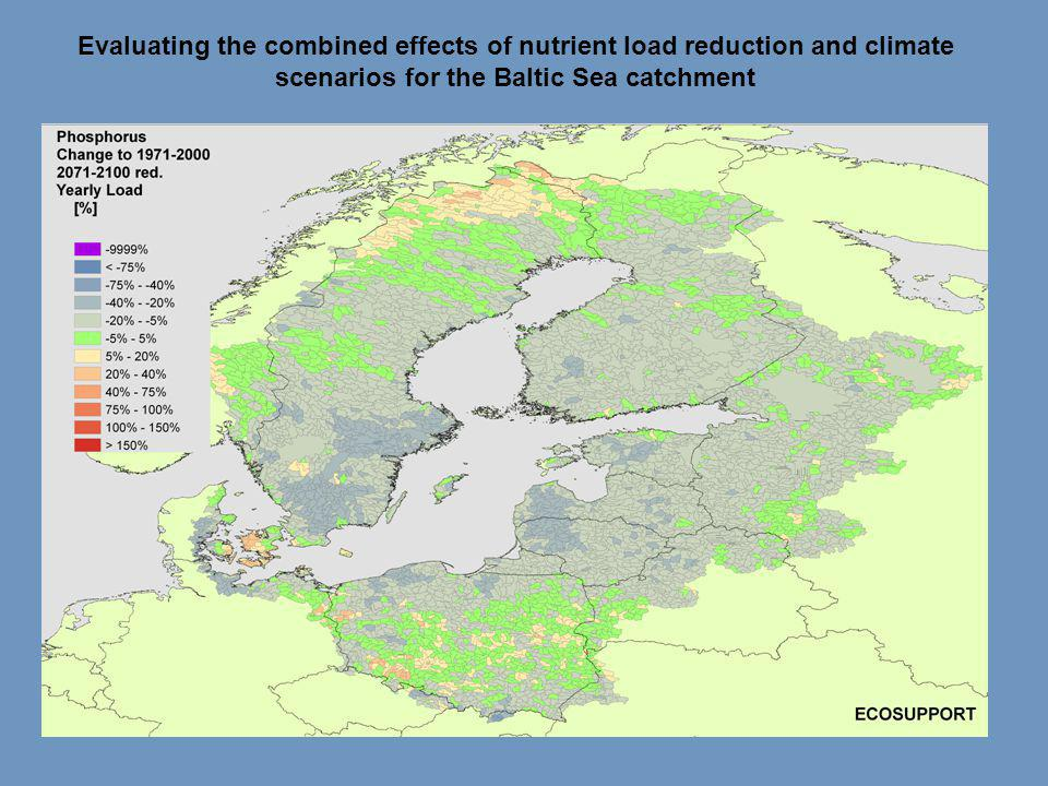 Evaluating the combined effects of nutrient load reduction and climate scenarios for the Baltic Sea catchment
