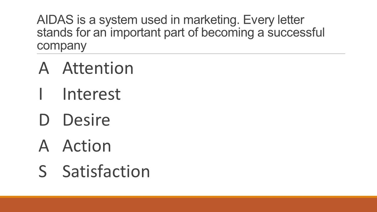 AIDAS is a system used in marketing.