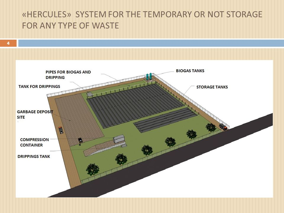 « HERCULES » SYSTEM FOR THE TEMPORARY OR NOT STORAGE FOR ANY TYPE OF WASTE 4