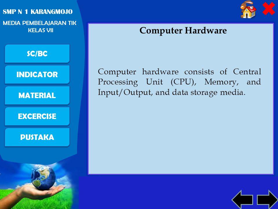 Free Powerpoint Templates Page 9 PUSTAKA SC/BC INDICATOR MATERIAL EXCERCISE SMP N 1 KARANGMOJO MEDIA PEMBELAJARAN TIK KELAS VII