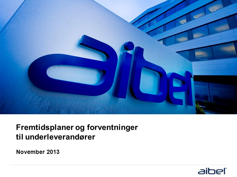 Company history & major events ■ Aibel history and experience dates back more than 100 years with companies such as Elektrisk Bureau (EB) and Haugesund Mekaniske Verksted (HMV).
