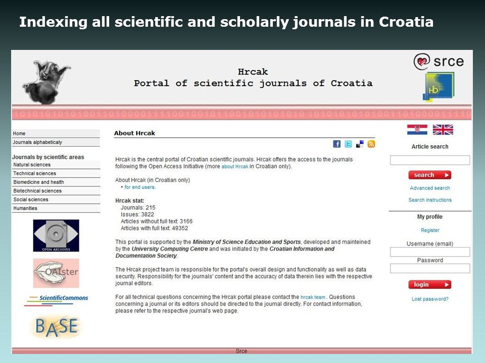 Indexing all scientific and scholarly journals in Croatia