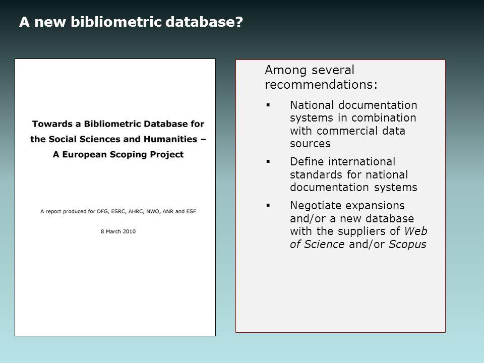 A new bibliometric database.
