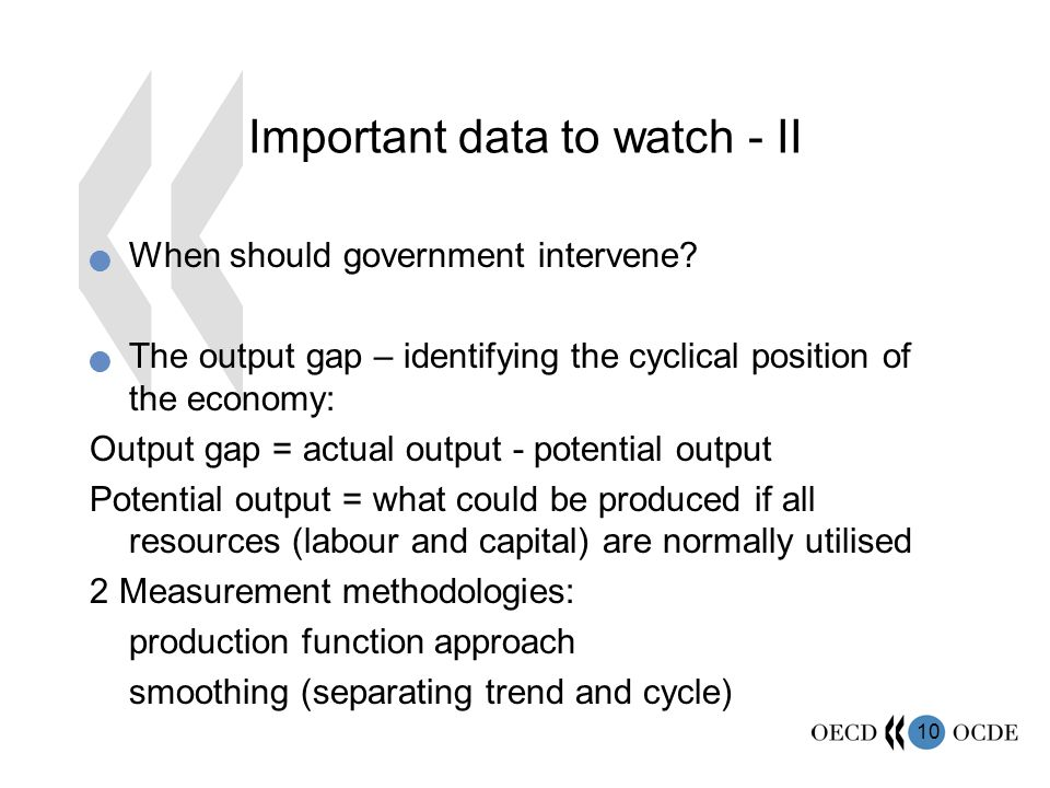 10 Important data to watch - II  When should government intervene.