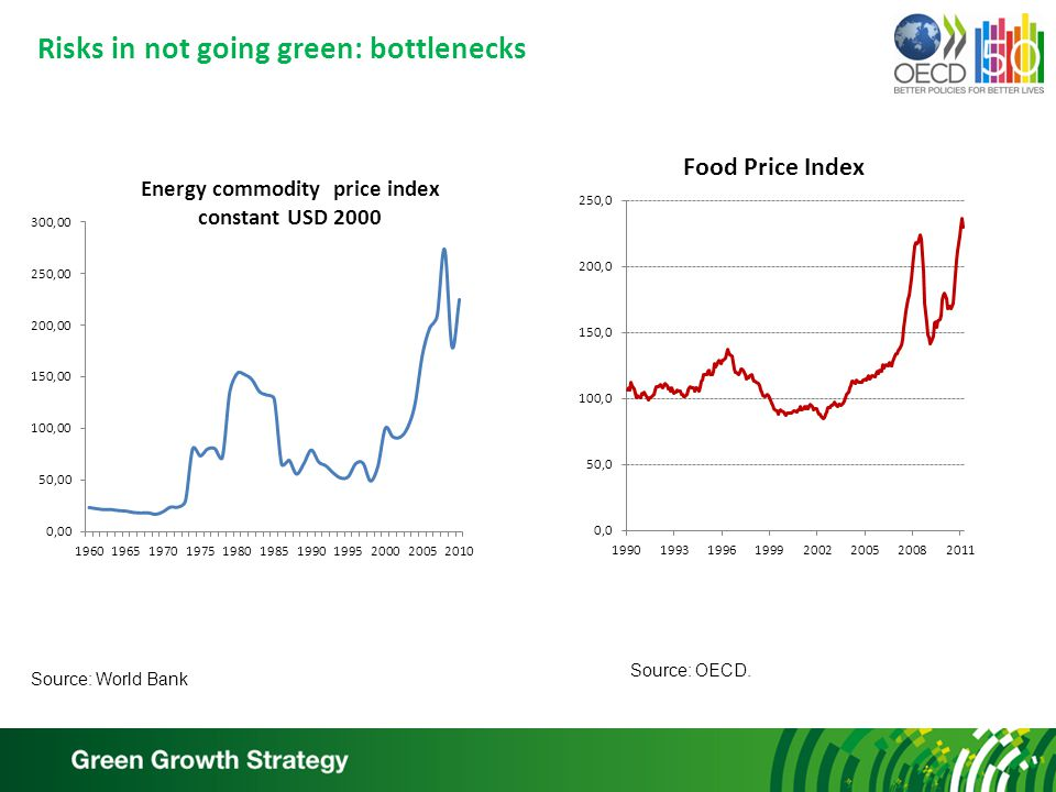Risks in not going green: bottlenecks Source: World Bank Source: OECD.
