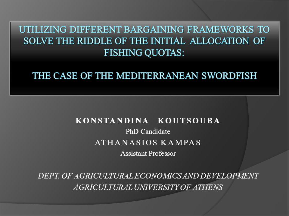 KONSTANDINA KOUTSOUBA PhD Candidate ATHANASIOS KAMPAS Assistant Professor DEPT.