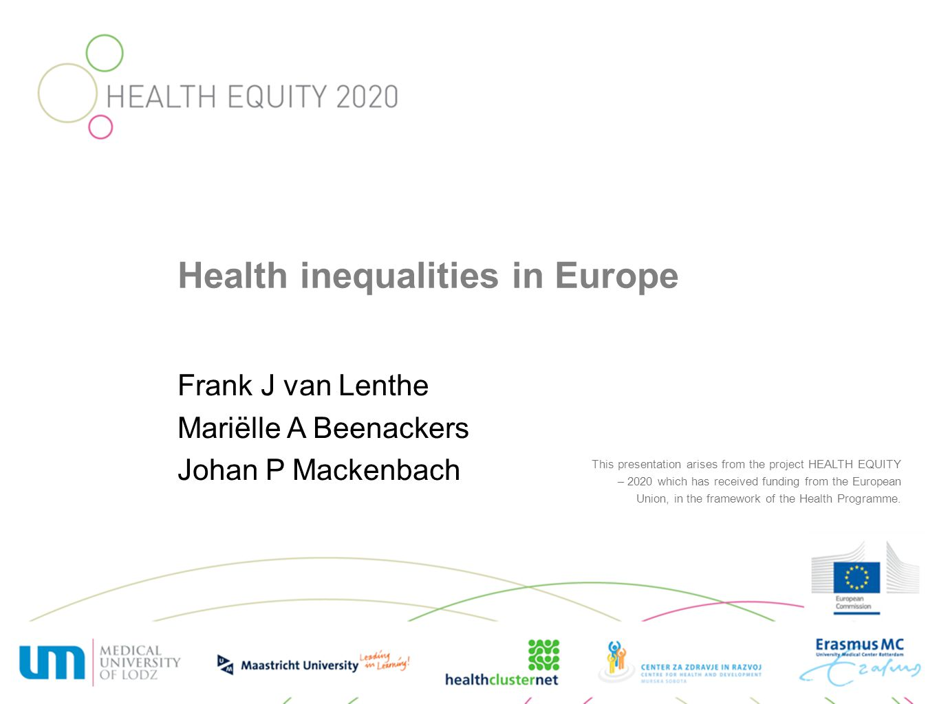 WP 4: TRANSLATIONAL EVIDENCE AND POLICY Aim: develop tools for drawing up evidence-based regional action plans to reduce health inequalities: –a case-by-case needs assessment, taking into account current exposure to the determinants of health inequalities and to policies tackling these determinants, –selection of actions known or expected to be effective in addressing these entry-points, and –a case-by-case analysis of the potential impact of these actions on population health and economic performance.