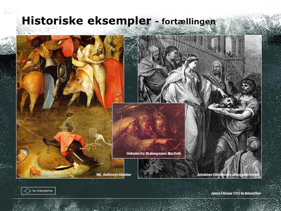 Historiske eksempler - fortællingen Janos Flösser CEO Io Interactive Johannes Døberenens afhuggede hovedSkt.