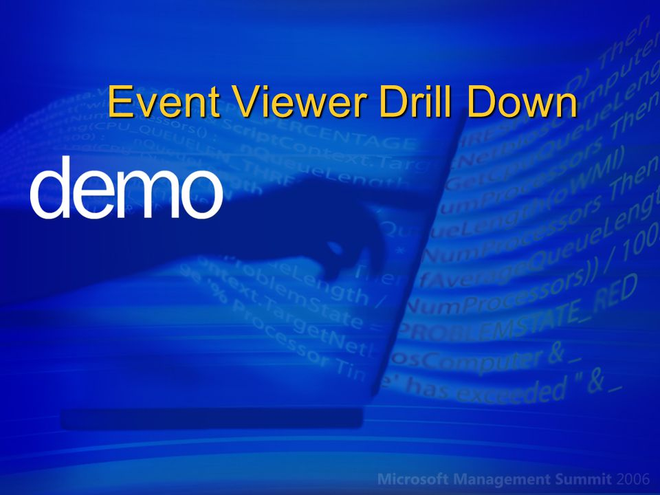 Event Viewer Drill Down