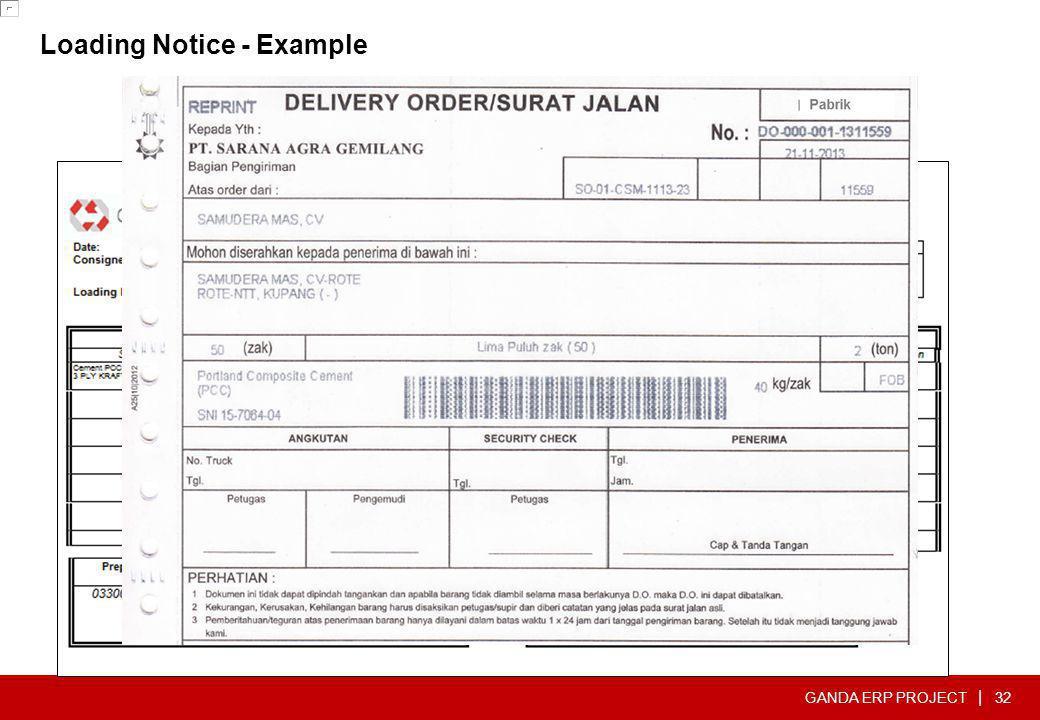 GANDA ERP PROJECT | Loading Notice - Example 32