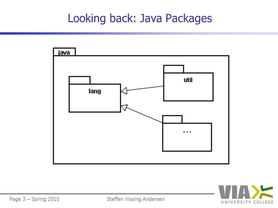 Page 3 – Spring 2010Steffen Vissing Andersen Looking back: Java Packages