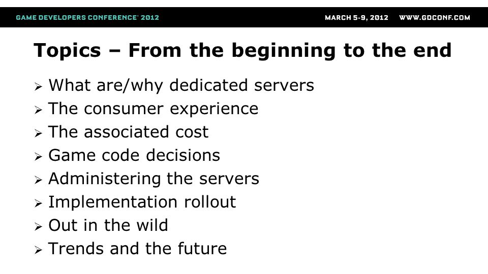 Master service Writes to the master DB Configuration setting of the machines  Datacenter setup with ID association  Assigns accounts to each machine and each process (Account and 5x5 input) Installs and health monitor of launcher service on each machine Tracks and moves builds to the datacenter local cache  Removed from DB and move to file caching  Can inject into the ini for custom settings Can fetch log files from any game process or launcher service Administering the servers
