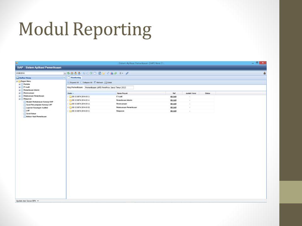 Modul Reporting