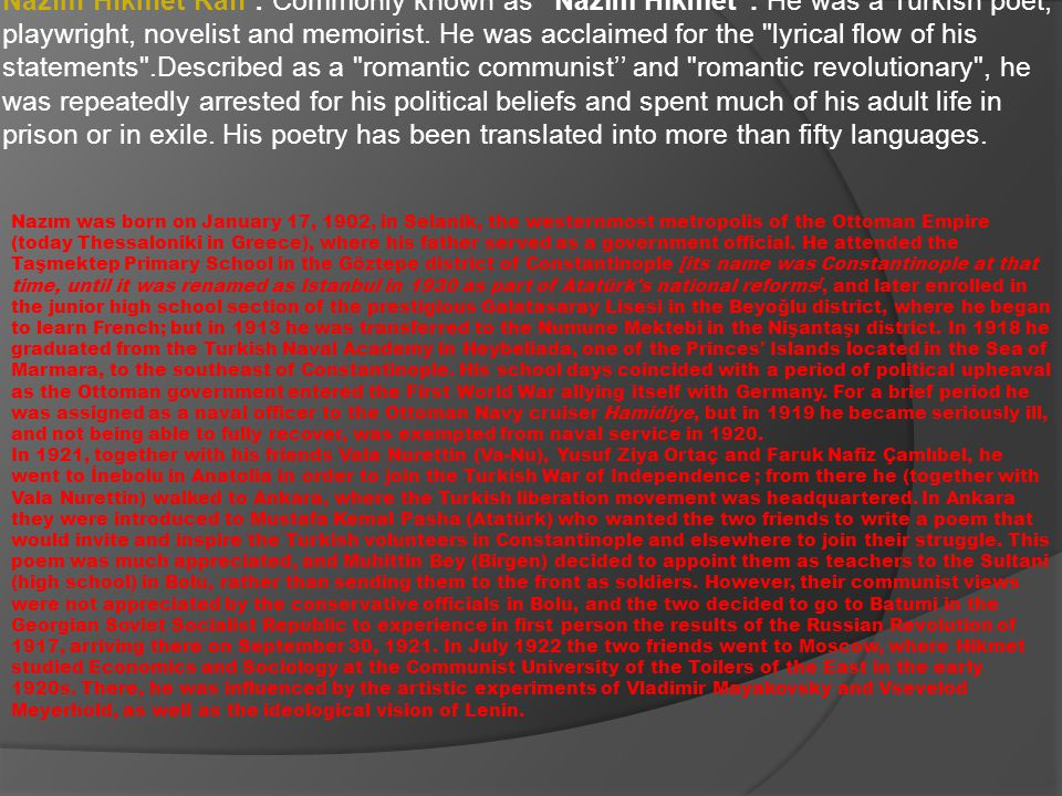 Principles of Turkism History of Turkish Civilization Kızılelma (poems) Turkism, Islamism and Modernism History of Kurdish Tribes (Kürt Aşiretleri Hakkında Sosyolojik Tetkikler) To The Wind Oh wind,wind where to Flapping your invisible wing While you coming down on a stream you can hear surely My heart's cry If you ever pass trough Istanbul Scatter a sweet breeze on my land Go and greet my home Take kisses from me To my dearest daughters !