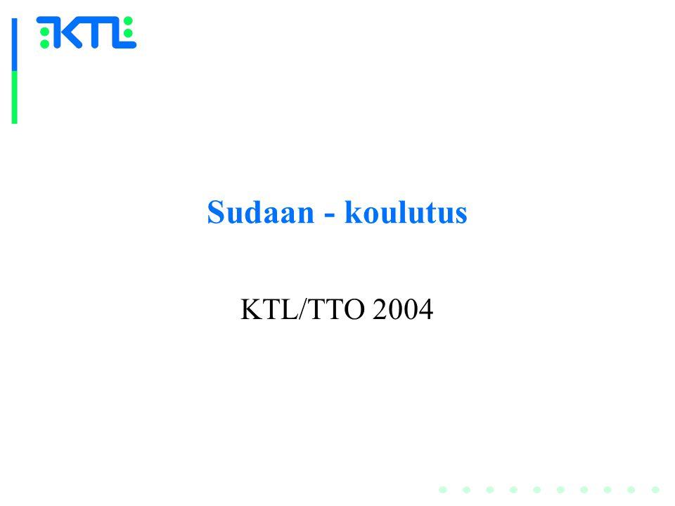 Sudaan - koulutus KTL/TTO 2004