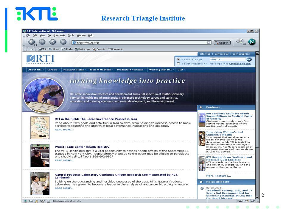 2 Research Triangle Institute