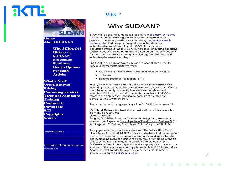 5 PITFALLS OF USING STANDARD STATISTICAL SOFTWARE PACKAGES FOR SAMPLE SURVEY DATA Donna J.