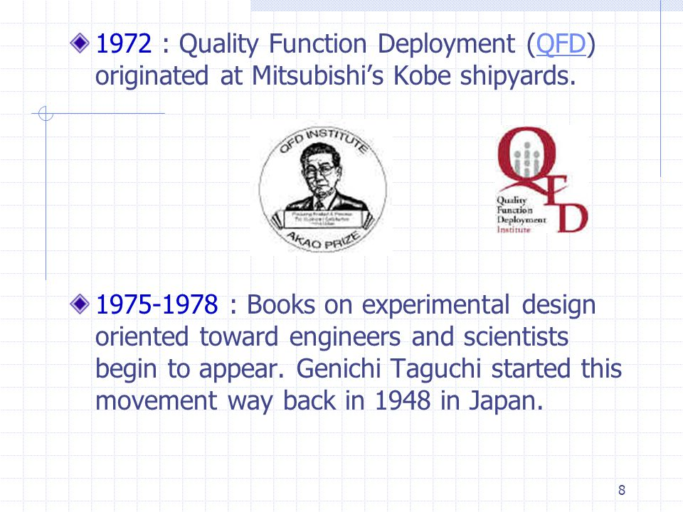 9 1979 : Philip Crosby publishes Quality is Free.1980 : Television documentary If Japan Can...