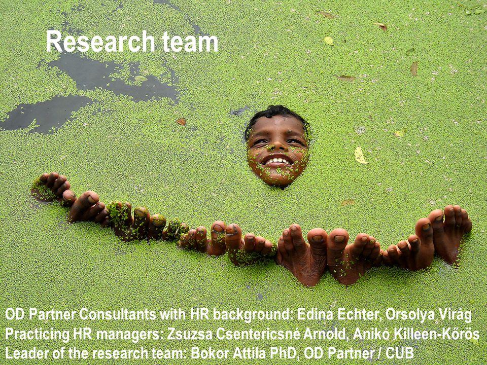 Research team OD Partner Consultants with HR background: Edina Echter, Orsolya Virág Practicing HR managers: Zsuzsa Csentericsné Arnold, Anikó Killeen
