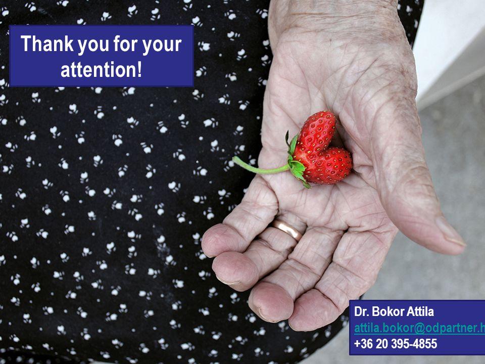 Thank you for your attention! Dr. Bokor Attila attila.bokor@odpartner.hu +36 20 395-4855