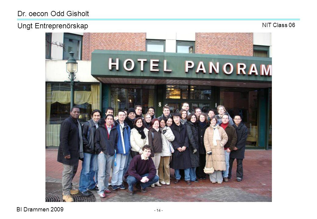 BI Drammen 2009 Ungt Entreprenörskap Dr. oecon Odd Gisholt - 14 - NIT Class 06