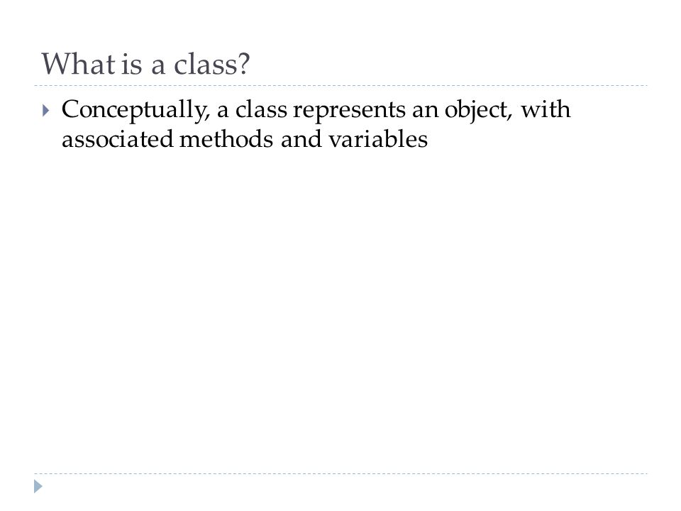 What is a class.