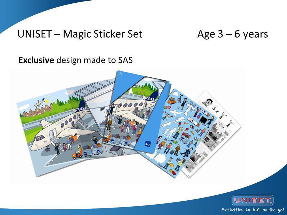 UNISET – Magic Sticker Set Age 3 – 6 years Exclusive design made to SAS