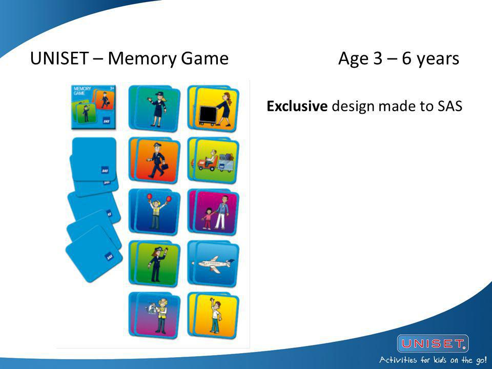 UNISET – Memory Game Age 3 – 6 years Exclusive design made to SAS