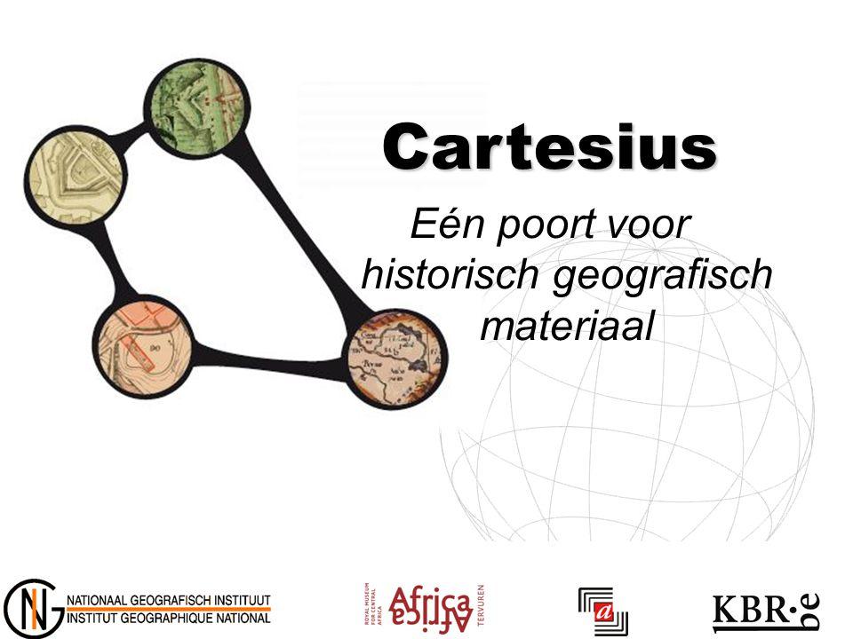 Cartesius Eén poort voor historisch geografisch materiaal