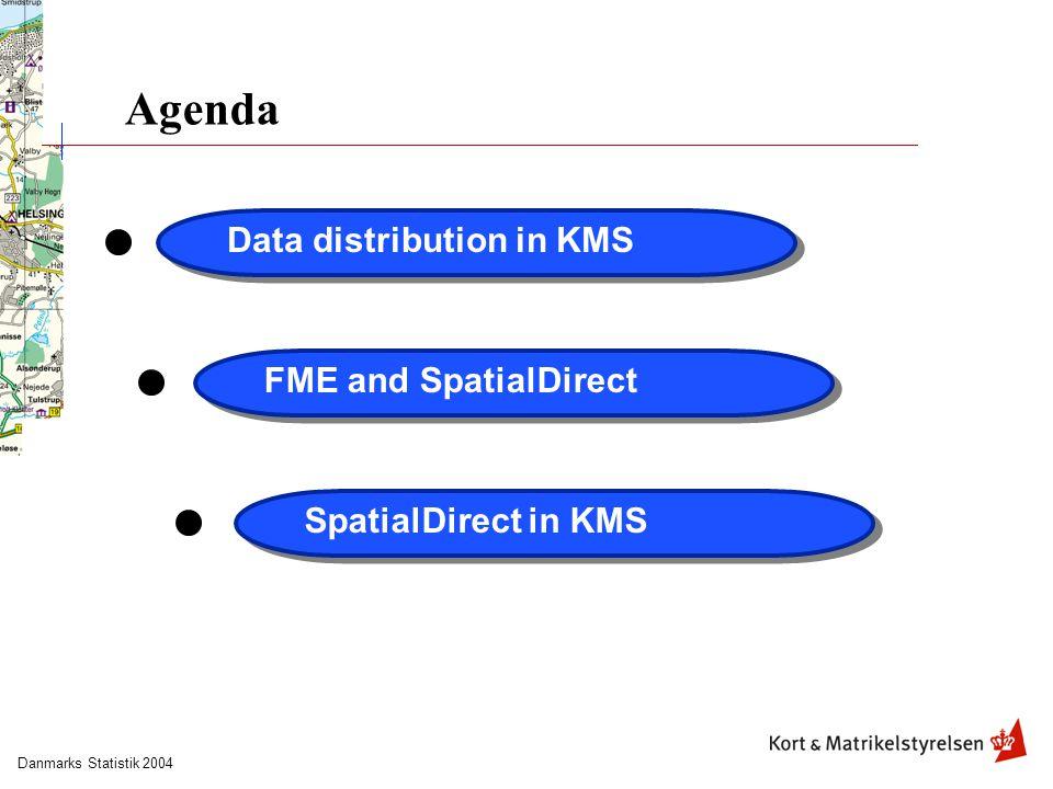 Danmarks Statistik 2004 Agenda Data distribution in KMSFME and SpatialDirectSpatialDirect in KMS