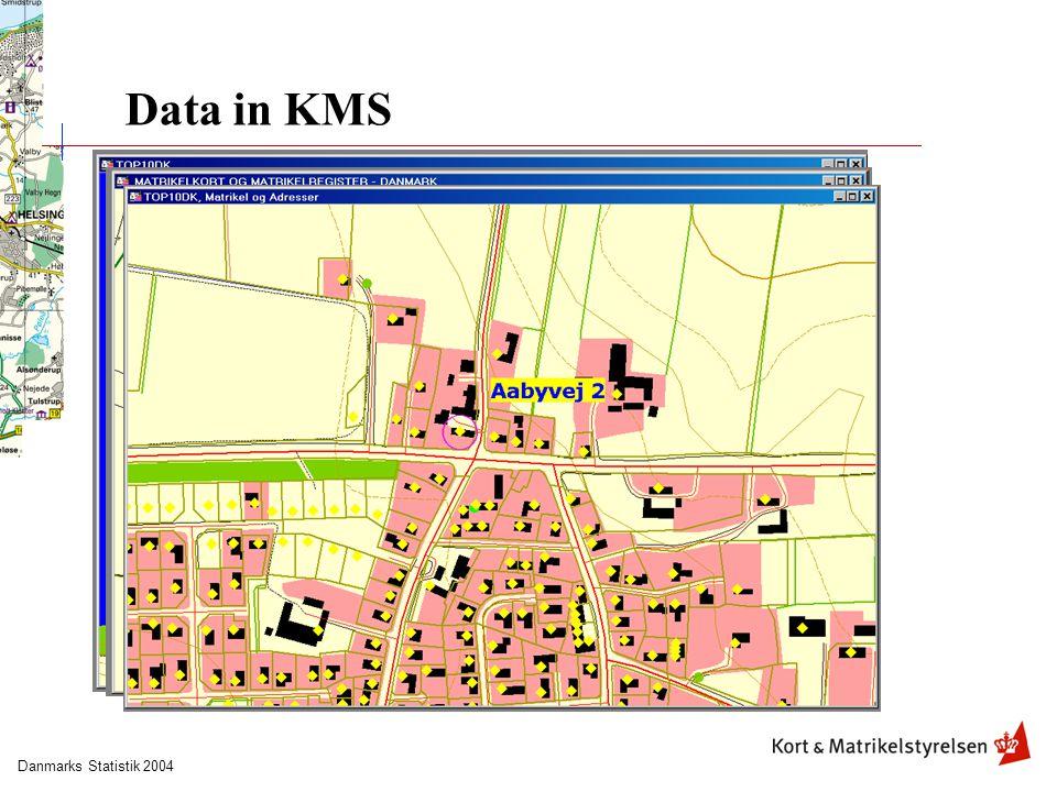 Danmarks Statistik 2004 Data in KMS