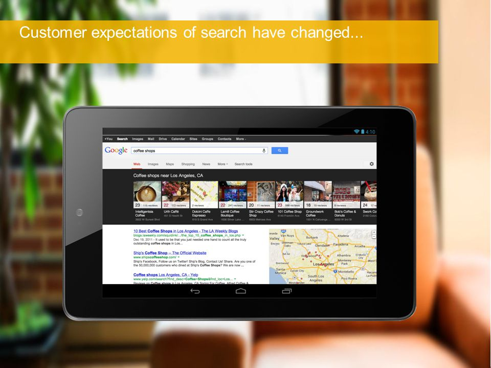 Customer expectations of search have changed...