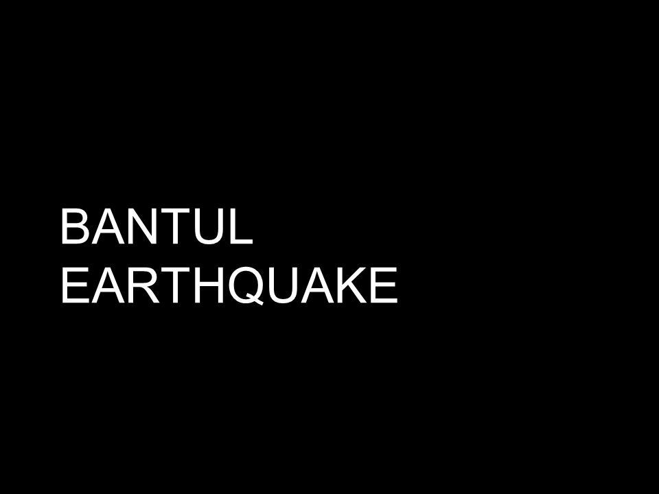 BANTUL EARTHQUAKE
