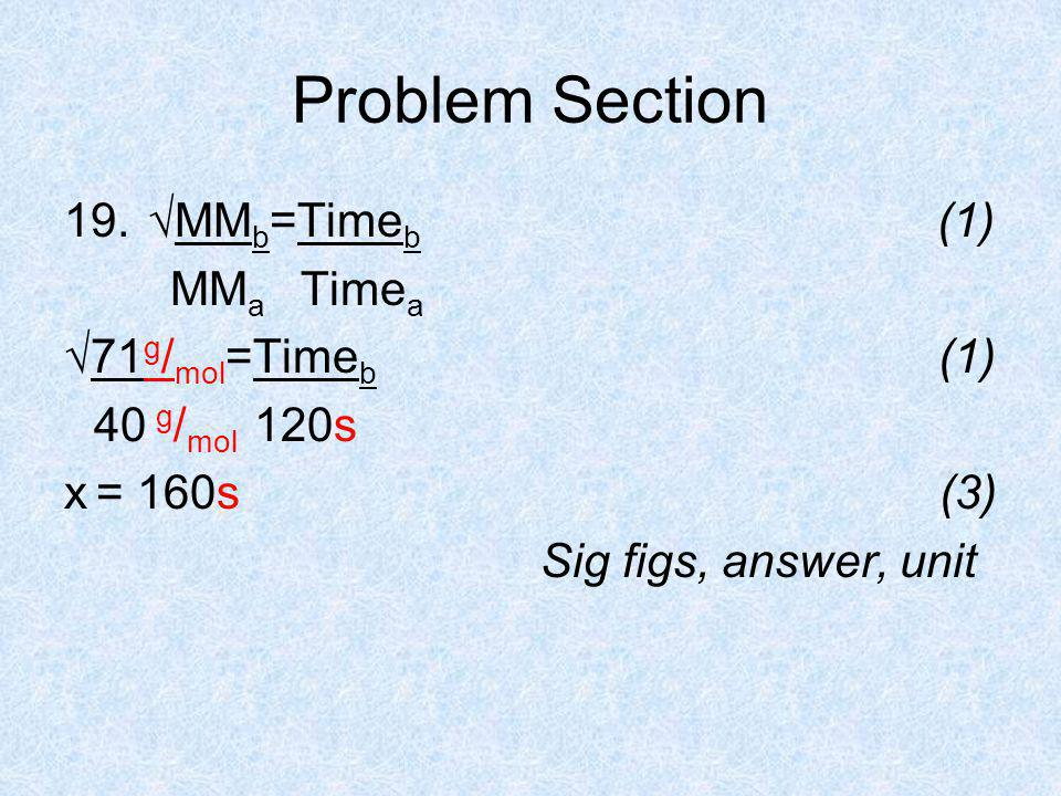Problem Section 19.