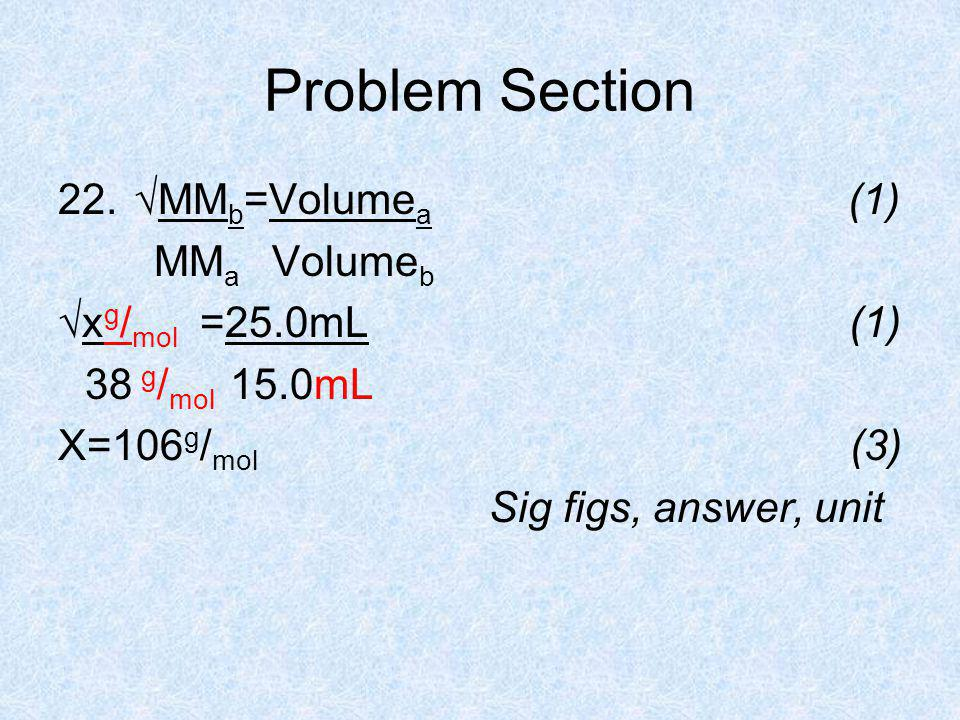 Problem Section 22.