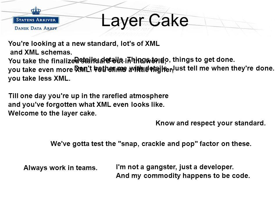 –Fjerde niveau Layer Cake I m not a gangster, just a developer.