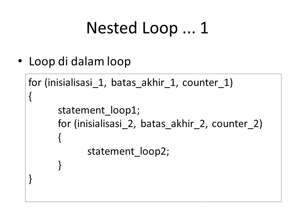 Nested Loop...