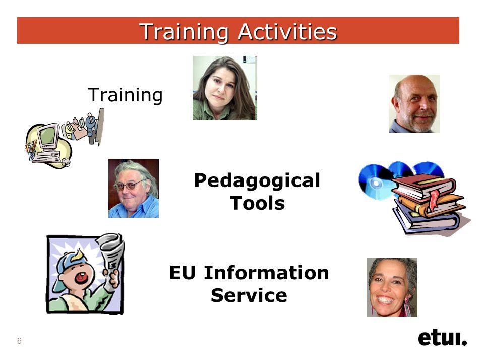 6 Training Activities Training Pedagogical Tools EU Information Service