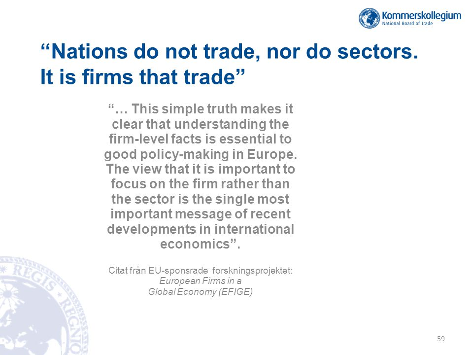 Nations do not trade, nor do sectors.