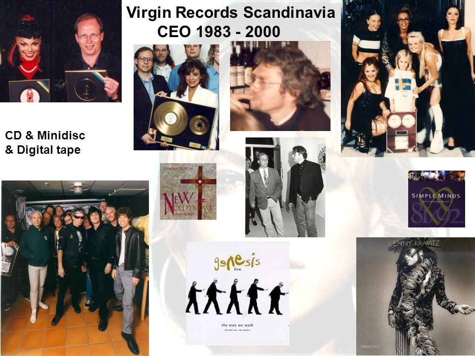 4 Virgin Records Scandinavia CEO 1983 - 2000 CD & Minidisc & Digital tape