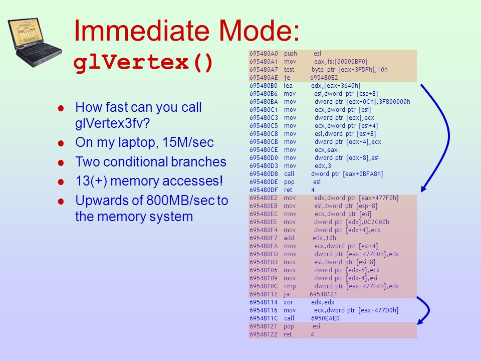  How fast can you call glVertex3fv.