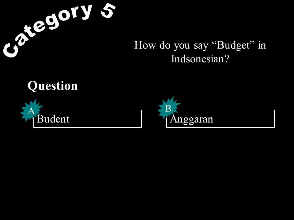 Go to Budget.