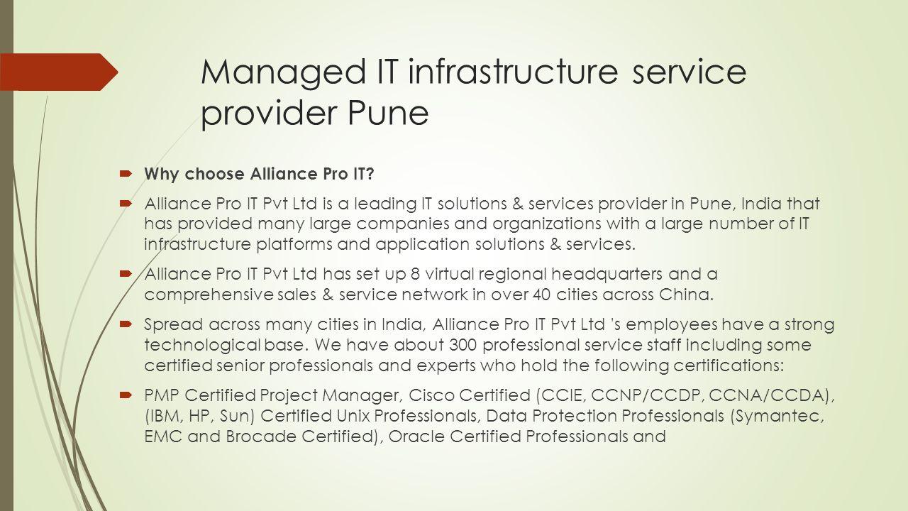 It infrastructure service provider pune alliance pro it pvt ltd 2 managed xflitez Image collections